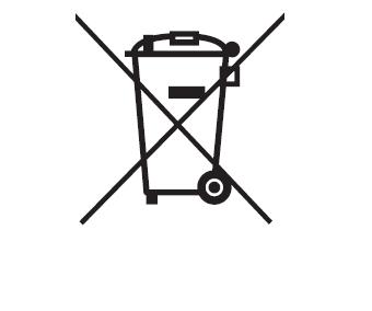 Symbol: Trennung von Siedlungsabfall und Elektroaltgeräten